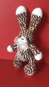 Handmade Bunny Doll Toy Cute Crochet Yarn Lovely Beautiful Plush art Stuffed New