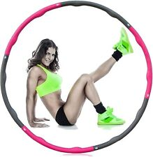 8 knots Collapsible Weighted Hula Hoop Fitness Gym Workout Exercise ABS Padded