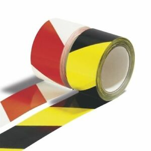 Pvc Hazard Warning Rolls Self Adhesive Floor Warehouse Safety Security 50mm 33m