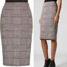Polyester Checked Regular Size Topshop Skirts for Women