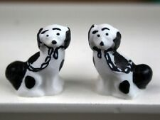Dolls House accessories   Pair of Black staffordshire Dogs OA72