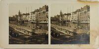 Russie Kaliningrad Königsberg I Quais Foto Stereo Vintage Analogica Danneggiata