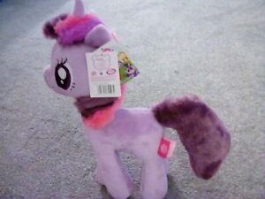 "Famosa Softies My Little Pony 'Twilight Sparkle' Plush Over 12"" New"