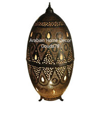 "Moroccan Handcrafted Bronze Brass 24"" Height Floor Table Lamp Light"
