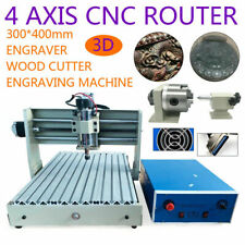 New Listing3040 4 Axis 400w Router Desktop Engraver Wood Working Drilling Machine Usa