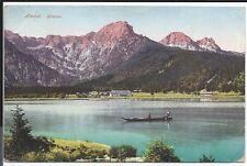 Vintage Austrian Colored Postcard - Almtl - Almsee - Mountain and Lake Scene