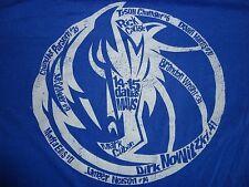Blue Dallas Mavericks SPECIAL EDITION 2014 Opening Night NBA T Shirt SZ XL EXCEL