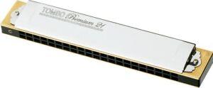 TOMBO No.3521 Premium 21 Harmonica Diatonic E to D# Key NEW from Japan