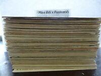 LOT OF 50 VINTAGE POSTCARDS , USED & UNUSED ,  TAPE ON BACK ,DISCOUNTED