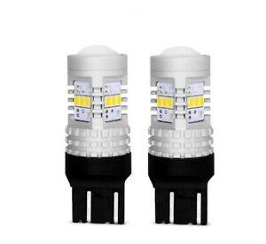 2x Ampoules T20 W21/5W LED 14 SMD pour Feux de jour 6000K Veilleuse Auto 1400LM