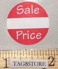 """500 Self-Adhesive Sales Price Round Retail Labels 1"""" Stickers Tags - Sale Price"""