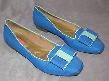 WM's SZ 7M Isaac Mizrahi New York Katharine3  Blue With Turquoise Trim MINT!!