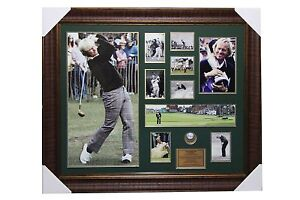 Jack Nicklaus Signed Golf Ball with Poster and Frame
