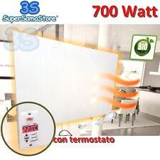 3S CALORIFERO RADIATORE BIANCO ELETTRICO A RAGGI INFRAROSSI 700 W con TERMOSTATO