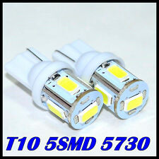 2x PCS T10 5730 LED Brightest Pure White LED on the planet fit w5w 194 168