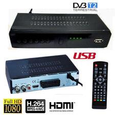 DECODER RICEVITORE DIGITALE TERRESTRE DVBT2 FULL HD MPEG4 VIDEO ALTA DEFINIZIONE