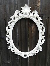 large white ornate baroque oval frame wall art group wedding photo prop