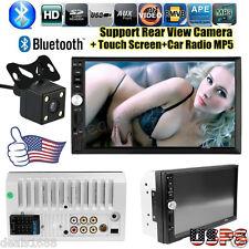 7'' HD Touch Screen Bluetooth Car Stereo Audio 2 DIN FM/MP5/MP3/USB/AUX Camera