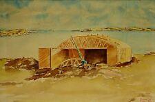 Gagen U.S.N.R. (American, Active 1943-1944 ) Original WWII War Painting Pacific