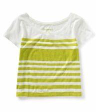 T-shirt, maglie e camicie da donna gialli a fantasia righe in cotone