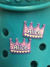 2 Alice encantos del zapato Para Crocs Y Jibbitz Pulseras. Uk libre de envío.