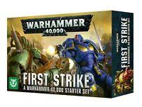 New First Strike Warhammer 40K Starter Games Workshop Ultramarines Death Guard!!
