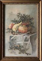 Nature morte aux fruits - Eugène Clary - Huile sur carton