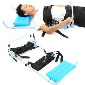 Body Stretching Device Cervical Spine Lumbar Traction Bed Therapy Massager MR