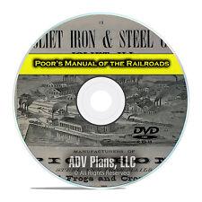 Poor's Manual of Railroads, 24 Railroad Volumes, Financial History DVD E40