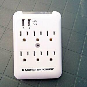 MONSTER POWER USB USA PLUG ADAPTOR USA TO USA