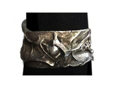 Boho, organic design, Silver Cuff Bracelet