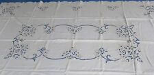 Vintage Madeira Tablecloth Floral Cutwork & Embroidered 70 by 100