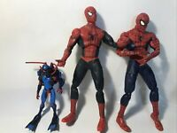 SPIDERMAN 2004 2005 12 INCH TALL ACTION FIGURE Lot With Scuba Spiderman A1