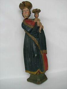 Heiligenfigur Figur Madonna Maria Jesuskind Heilige Volkskunst Holz Schnitzerei