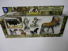 NEW Play Set MOOSE BUCK Wild Hunting Gun Camo Men Dogs Figurines Cake Topper Toy