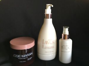 Josie Naran Skin Care Set Whipped Argan Oil,  Milk Intensive Serum+Treatment NEW