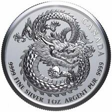 2018 LUCKY DRAGON  1oz SILVER COIN HIGH RELIEF from ROYAL CANADIAN MINT