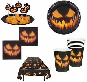 Creepy Pumpkin Halloween Tableware Party Decoration Supplies
