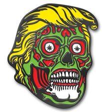 New Zombie Trump Collectors Dual Backing Pin resembling Donald Trump.