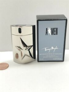Amen by Thierry Mugler 2 ml Eau de Toilette Mini Spray Men, Metal Case, Vintage!