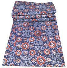 Indian Handmade Natural Hand Block Printed 5 Yard Sanganeri Cotton Fabric