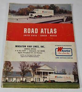 Vintage 1969 Wheaton Van Lines Road Atlas By Rand McNally US Canada Mexico