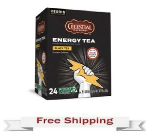 Keurig Celestial Seasonings Energy Black Tea  K-cups 24 Count