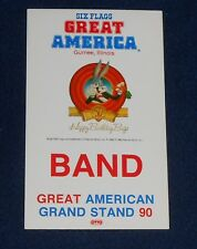 Six Flags Illinois Great America - Band 90 Unused OTTO Backstage Pass