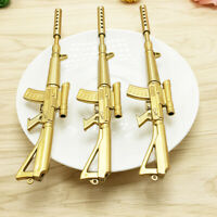 Gold Rifle Shape Black Ink Ball point Pen Stationery Office Ball Point Novelty C