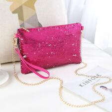 Ladies Designer Sequins Purse Chain Handbag Shoulder Bag Evening Bag Clutch