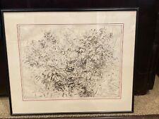 Original Etching by OLIMPIA OGILVIE (Argentina 1928-2012) Titled GERANIUMS 29/50