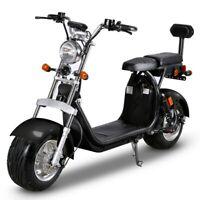 Scooter Électrique Citycoco Vélo 1500W 2x20AH Batterie Eec