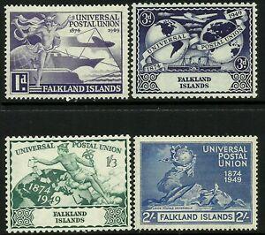 Falkland Is. 1949 UPU set Mint Lightly Hinged Fresh Gum