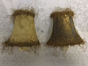 2 Vintage Night Light Lamp Shade Plug In Wall Lamp